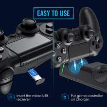 Load image into Gallery viewer, (Y342)VicTsing PS4 Controller Charger, PS4 Charging Station Dock Dual USB with LED Indicator Light for Sony Playstation4/PS4/PS4 Slim/PS4 Pro Controller
