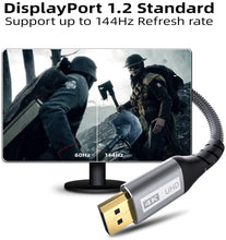 Load image into Gallery viewer, (F076)DisplayPort 1.2 Cable 6.6ft, Yurnero DP to DP Male to Male Cable Fish Scale Braided Cable, High Speed DisplayPort Cord, Supports 2K@144Hz and 4K@60Hz
