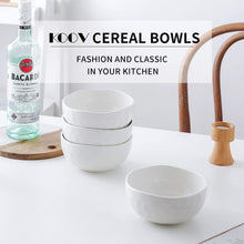 Load image into Gallery viewer, (X084)KOOV Porcelain Cereal Bowls Microwave And Dishwasher Safe, 24 oz Soup Bowl Set, Kitchen Bowls for Oatmeal, Chip, Rice, Pothole Series Set of 4