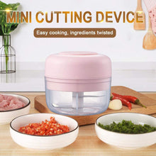 Load image into Gallery viewer, (R992) Electric Mini Garlic Chopper Garlic Cutter Garlic Masher,Garlic Press Mincer Pepper Chili Vegetable Nuts Meat Grinder