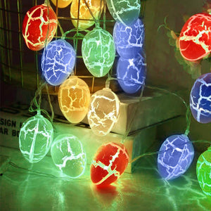 (Y383)Easter Eggs Easter Day Decorations 20 LED 8 Modes Waterproof Battery Operated Fairy String Lights