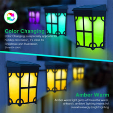 Load image into Gallery viewer, (T565)TonyEst 8 Pack Solar Deck Lights Outdoor Classic Style Amber Warm LED Solar Fence Lights Waterproof Garden...
