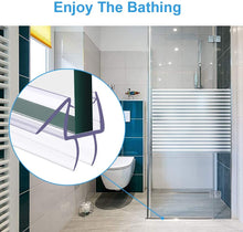 Load image into Gallery viewer, (R370)Shower Door Bottom Seal - Frameless Shower Door Sweep for Glass - Shower Seal Strip for Glass Door-Stop Shower Leaks and Create a Water Barrier