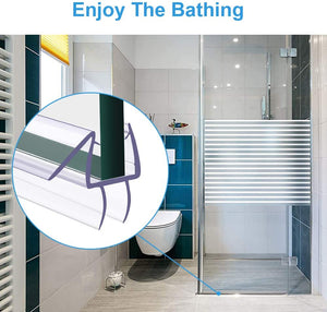 (R370)Shower Door Bottom Seal - Frameless Shower Door Sweep for Glass - Shower Seal Strip for Glass Door-Stop Shower Leaks and Create a Water Barrier