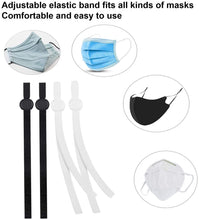 Load image into Gallery viewer, (S014)Adjustable Elastic Sewing Cord for Masks,Adjustable Earloop Elastic String for Masks,Mask DIY Elastic Band(50PCS Black & 50PCS White)
