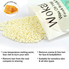 Load image into Gallery viewer, (R713)Hard Wax Beads 500g, Stripless Wax beans Hair Removal Kit for Full Body, Face, Leg, Brazilian, Bikini,Refill Pearl Beads for Wax Warmer Kit,20 Wax Spatulas