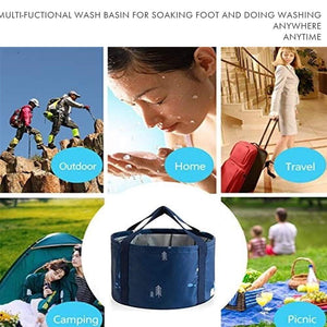 (V700)Collapsible Foot Basin with Mineral Epsom Salts for Soaking Feet Multifunctional Pedicure Tub Wash Basin for Foot Spa Soak Home Camping