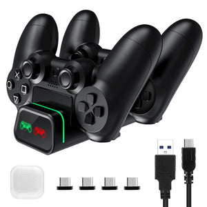(Y342)VicTsing PS4 Controller Charger, PS4 Charging Station Dock Dual USB with LED Indicator Light for Sony Playstation4/PS4/PS4 Slim/PS4 Pro Controller