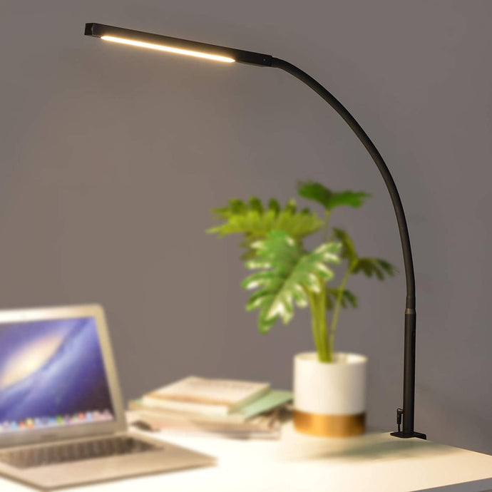 (Y464) Desk lamp with clamp,10W LED Desk Lamp,Adjustable Brightness & Color Temperatures,Swing Arm Lamp,Reading Table Lamp,Desk Lights