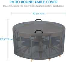 Load image into Gallery viewer, (K750)TAOCOCO Outdoor Patio Furniture Covers, 600D Waterproof Table Chair Set Covers, Anti-Fading Cover for Round Table Dining Set