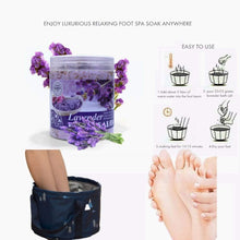 Load image into Gallery viewer, (V700)Collapsible Foot Basin with Mineral Epsom Salts for Soaking Feet Multifunctional Pedicure Tub Wash Basin for Foot Spa Soak Home Camping
