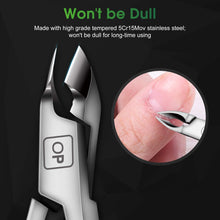 Load image into Gallery viewer, (Y975)Cuticle Trimmer Cuticle Nippers Clippers Stainless Steel Hangnail Remover Extremely Sharp Cutter Pedicure Manicure Tool, opove X7 Rainbow Gradient
