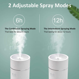 (T691)Portable Mini Humidifier,360ml Small Cool Mist Humidifier with 7-Color LED Night Light