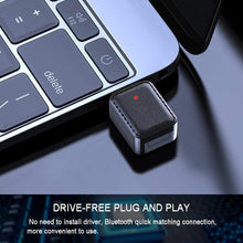 Load image into Gallery viewer, (D364)USB Bluetooth 5.0 Transmitter and Receiver, 3.5mm Audio Adapter for Home/Car/Laptop Bluetooth Dongle,Denoise HiFi Music
