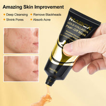 Load image into Gallery viewer, (Q261)24K Gold Face Mask, Blackhead Remover Mask, Peel Off Mask Gold, Collagen Facial Mask for Deep Cleansing