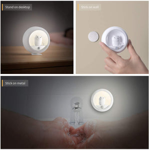(R734)HAPTIME Motion Sensor Night Light with Built-in Rechargeable Battery for Wall Closet Bedroom Bathroom Nursery Kitchen Hallway Stairs, Natural White LED