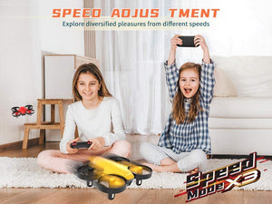 (W881)SNAPTAIN SP350 Yellow Mini Drone for Kids/Beginners, Portable RC Drone with 3 Batteries, Toss Fly, Circle Fly, 3D Flip, 3 Speed Mode & Altitude Hold, Great Gift/Toys