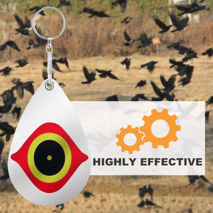 (G292)Gxeabg Bird Repellent Horrible Predator Eye Effective Hanging Bird Repellent Devices Scare Birds Away for House Windows and Gardens(5PCS