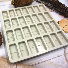 Load image into Gallery viewer, (F125)Domino Mold Candy Mold domino mold for resin 0.39inch, 28 Cavities Silicone Baking Mold for Homemade Soaps, Lotion Bar, Jello, Bath Bomb, Beeswax, Resin, Chocolate and Dessert