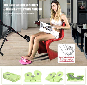 (Y632)MBB Mini Stepper,Under Desk Pedal Exerciser,Folding Colorful Foot Peddle,Physical Therapy Leg Exercisers Peddle,Relieves Varicose Veins Gray Color