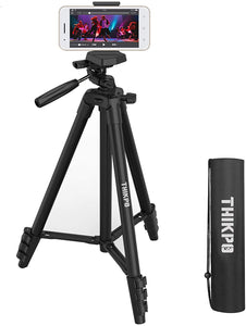 (G287)THIKPO 50-Inch Lightweight Portable Tripod, Lightweight Tripod 50-Inch, Aluminum Phone Tripod for Travel/Camera/Cellphone Tripod