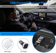 Load image into Gallery viewer, (T713)Bluetooth Aux Adapter, BAVNCO Wireless Bluetooth 5.0 Car Adapter Hands-Free Car Kits Mini 3.5mm Stereo Output Bluetooth Receiver Transmitter