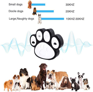 (W063)Zigzagmars Ultrasonic Dog Bak Control Device, 2019 Upgraded Anti Barking Device, 100% Pet & Human Safe Dog Silencer Training BehaviorTool for Dogs