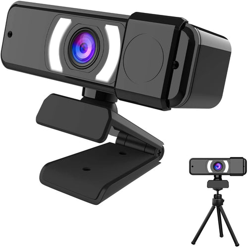 (K584)EBODA 2021 Webcam, New AutoFocus 1080p HD USB Webcams with Stereo Microphone and Privacy Cover, for Streaming Online Class, Compatible