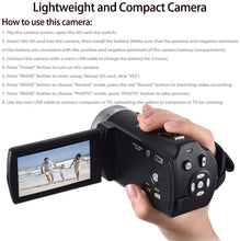 Load image into Gallery viewer, (V265)Camcorders ORDRO HDV-V12 HD 1080P Video Camera Recorder Infrared Night Vision Camera Camcorders with 16G SD Card and 2 Batteries