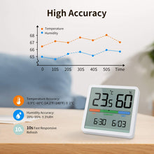 Load image into Gallery viewer, (H333)NOKLEAD Hygrometer Indoor Thermometer, Desktop Digital Thermometer with Temperature and Humidity Monitor