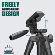 Load image into Gallery viewer, (G287)THIKPO 50-Inch Lightweight Portable Tripod, Lightweight Tripod 50-Inch, Aluminum Phone Tripod for Travel/Camera/Cellphone Tripod