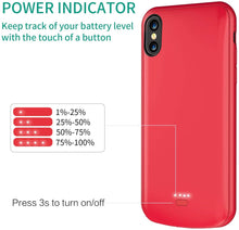 Load image into Gallery viewer, (W253)TAYUZH Battery Case for iPhone X/XS, Upgraded 4000mAh Slim Rechargeable Protective Charging Case for iPhone X/XS/10 (5.8 inch)