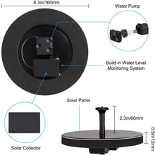 Load image into Gallery viewer, (D151) Solar Fountain for Bird Bath, Solar Powered Fountain Pump 1.5W Free Standing Floating Birdbath