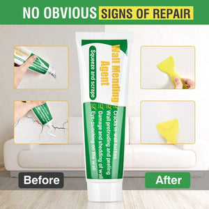 (A964) Wall Repair Patch Kit with Scraper, Drywall Repair Putty White Wall Mending Agent Repair Paste, Quick and Easy Solution