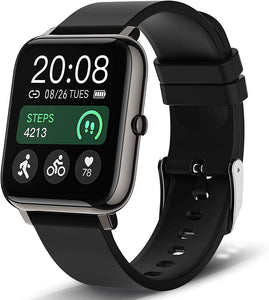 (C076)Smart Watch, Popglory Smartwatch with Blood Pressure, Blood Oxygen Monitor, Fitness Tracker with Heart Rate Monitor, Full Touch Fitness Watch