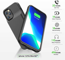 Load image into Gallery viewer, (T462)Allezru Battery Case for iPhone 12Pro Max, 6000mAh Portable Protective Charger Case Rechargeable Extended Battery Pack Charging Case Compatible