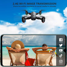 Load image into Gallery viewer, (T924)Dragon Touch DF01G Foldable GPS Drones for Adults, FPV Camera Drone HD 1080P with Background Music, Auto Return Home, Follow Me, Tap Fly, RC Drone Quadcopter