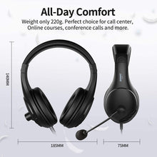 Load image into Gallery viewer, (V662)SOMIC 2 Pack Computer Headset, PC Headsets Over-Ear Headphones with Microphone for Desktop, 3.5MM Wired Headphones with Volume Control