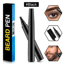 Load image into Gallery viewer, (S701)Beard Pencil Filler, AFDEAL Barber Pencil with Brush Kit, Mustache Eyebrow Repair Shape Fast Natural Hair Grower Male Micro-Fork Tip