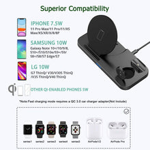 Load image into Gallery viewer, (E692)  Wireless Charger 3 in 1 Charging Station for Apple Watch and Airpods Qi Fast Wireless Charger