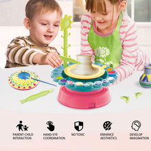 Load image into Gallery viewer, (K650)LHChan Pottery Wheel for Kids Beginners,DIY Pottery Studio,Pottery Wheels & Accessories with 2 Clay/Apron/Craft Paint Kit,Ceramic Wheel Machine