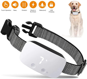 (E604)Nest 9 Dog Bark Collar, Rechargeable Anti Barking Training Collar, 7 Adjustable Sensitivity and Intensity Levels for Small Medium Large Dogs