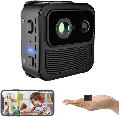 (W382)4K Mini WiFi Spy Camera Wireless Hidden Cameras, Hycency Ultra HD Secret Spy Cam/Nanny Cam with Phone App Live Stream, Extended Battery Life