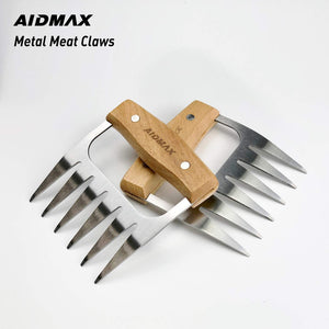 (V962)AidMax Meat Claws BBQ Tools for Shredding Meat - Chicken Bear Claws Meat Shredder with Handles for Pulled Pork 2 Pack