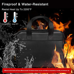 (V970)Fireproof Document Bag Set, Expandable Fireproof Portable Box with Insulation, Flame Retardant up to 2200℉