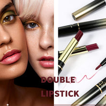 Load image into Gallery viewer, (Q994)3 Pcs Dual Heads Matte Moist Lipstick Long Lasting Waterproof Mate Lip Liner Pencil Set (Ax 03)