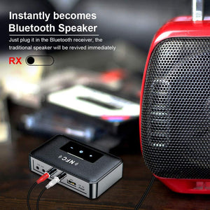 (K192) Bluetooth Receiver,HiFi Wireless Audio Adapter,Wireless Bluetooth 5.0 Transmitter Receiver