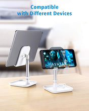 Load image into Gallery viewer, (E303) Cell Phone Stand, Height Angle Adjustable Phone Stand,Deep Dream Desktop Sturdy Aluminum Metal Phone Holder,Compatible