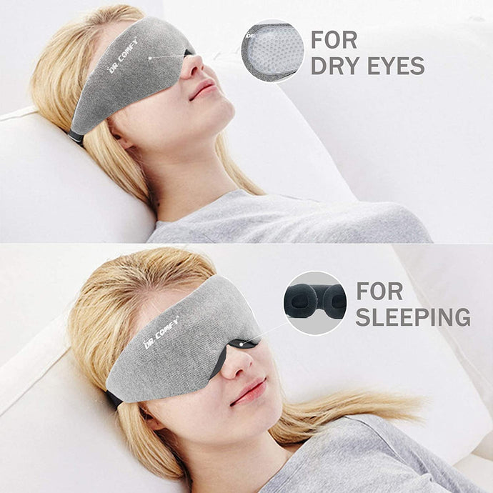 (Y979)Sleep Mask Eye mask for Sleeping Dry Eye mask for Men & Women, 3D Contoured Cup Sleeping Mask Concave Molded Block Out Light