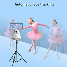 Load image into Gallery viewer, (D387)Smart Selfie Stick,【NO APP Required】 Auto Face Object Tracking Camera,Auto Tracking Phone Mount Smart Tracking Holder